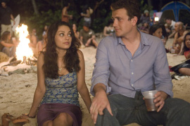 Mila Kunis and Jason Segel in Forgetting Sarah Marshall