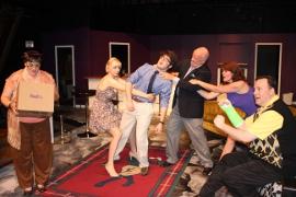 Mollie A. Schmelzer, Clare VanEchaute, Alex Richardson, Greg Bouljon, Melissa Scott, and Mike Kelly in The Fox on the Fairway