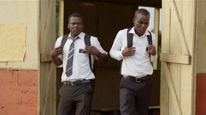Phillip Adekunle Michael and Clement Amegayie in Freetown