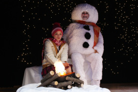 Meghan Gibson and Janos Horvath in Frosty's Magic Hat