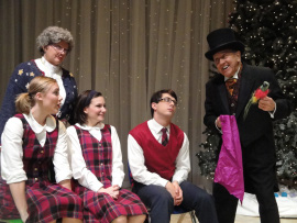 Elizabeth Miller, Autumn O'Ryan, Meghan Gibson, Patrick David, and Don Hepner in Frosty's Magic Hat