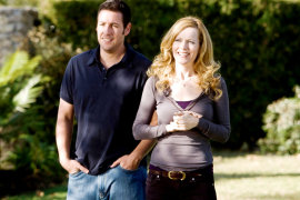 Adam Sandler and Leslie Mann in Funny People