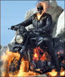 Nicolas Cage(ish) in Ghost Rider: Spirit of Vengeance