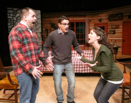 Joshua Kahn, Jordan Smith, and Cayte McClanathan in Ghost of a Chance