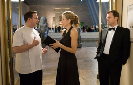 Ricky Gervais, Tea Leoni, and Greg Kinnear in Ghost Town
