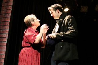 Jalayne Riewerts and Jon Loya in The Glass Menagerie