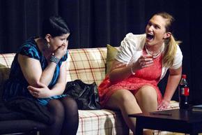 Sara Bolet and Amanda Dugan in God of Carnage
