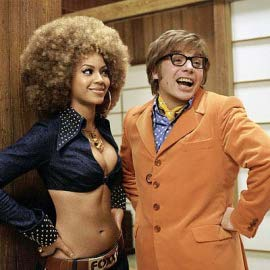 Beyonce Knowles and Mike Myers in Austin Powers in Goldmember