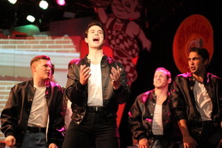 Derrick Bertram, Jon Loya, Nick Petrelli, and Christian Klepac in Grease