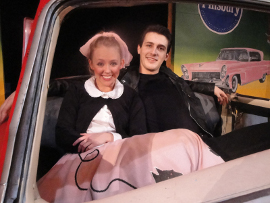 Lisa Carter and Aaron Alan in Grease
