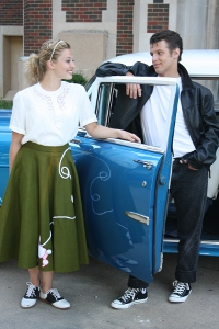 Taylor Wiebers and Andy Gibb Clark in Grease
