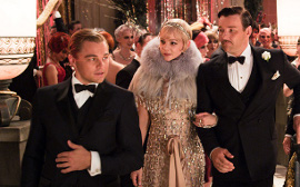 Leonardo DiCaprio, Carey Mulligan, and Joel Edgerton in The Great Gatsby