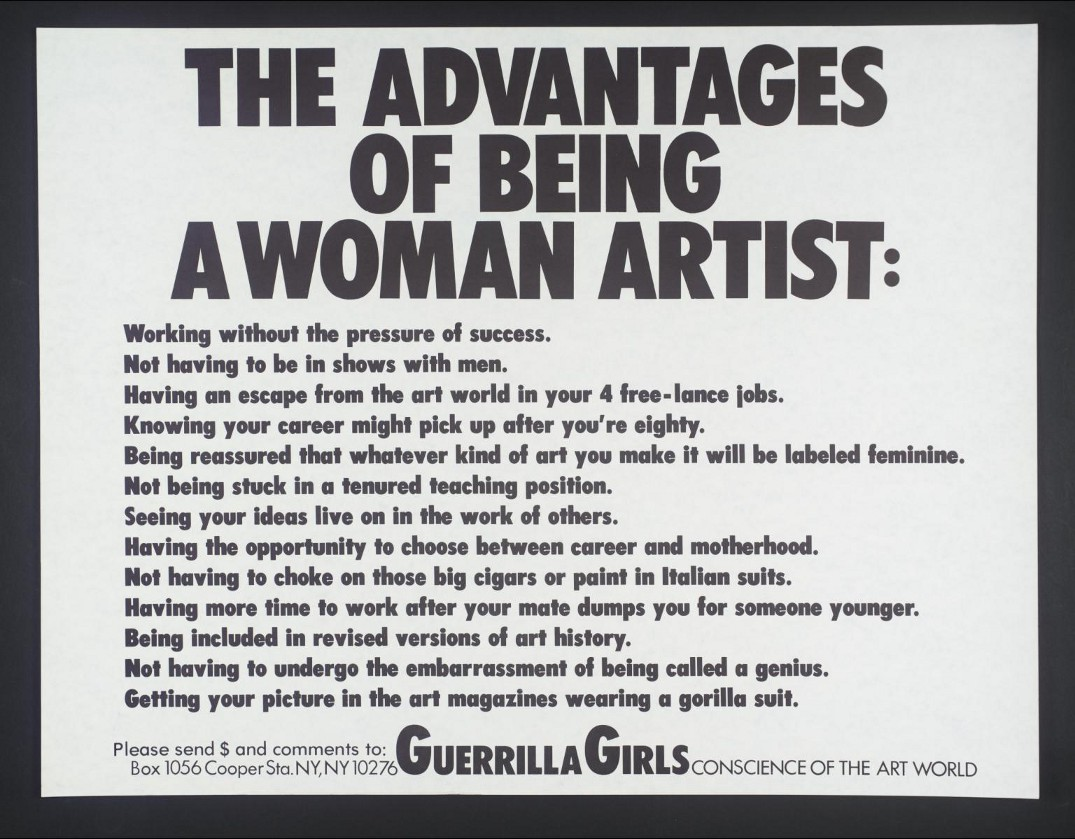 A 1998 poster by the Guerrilla Girls