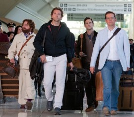Zach Galifianakis, Bradley Cooper, Justin Bartha, and Ed Helms in The Hangover Part II