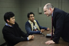 John Cho, Kal Penn, and Rob Corddry in Harold & Kumar Escape from Guantanamo Bay