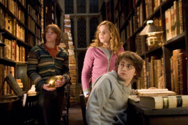 Rupert Grint, Emma Watson, and Daniel Radcliffe in Harry Potter & the Goblet of Fire