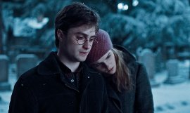 Daniel Radcliffe and Emma Watson in Harry Potter & the Deathly Hallows; Part I
