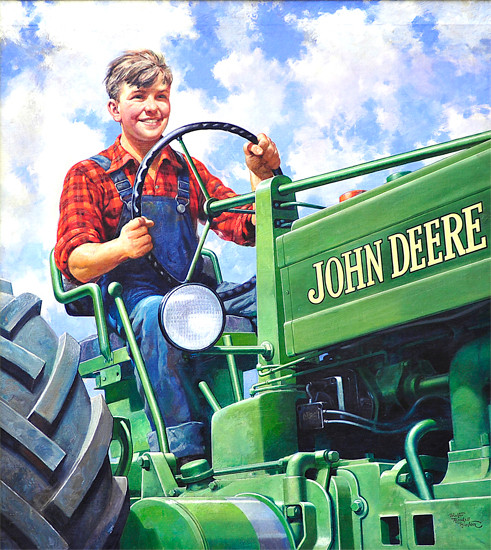 Haskell Hinton, 'Boy Driving Tractor.' Image courtesy of Deere & Company.