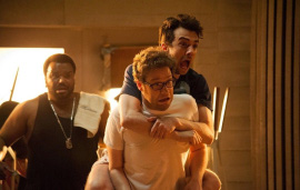 Craig Robinson, Seth Rogen, and Jay Baruchel in This Is the End