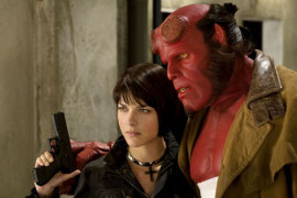 Selma Blair and Ron Perlman in Hellboy II: The Golden Army