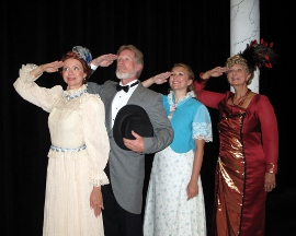 Susie Carsell-Schaecter, Mike Millar, Allyson Martens, and Charlene Engstrom in Hello, Dolly!