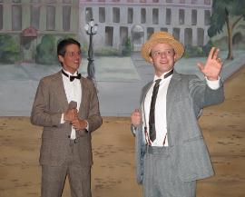 Bryan Tank and Tristan Layne Tapscott in Hello, Dolly!