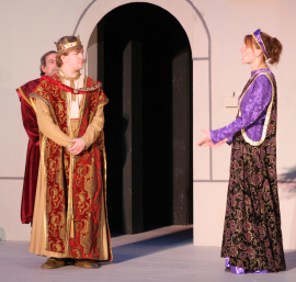 Michael Miller, Andy Curtiss, and TeAnna Mirfield in Henry the Sixth: Richard, Duke of York