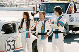 Lindsay Lohan, Breckin Meyer, and Justin Long in Herbie Fully Loaded