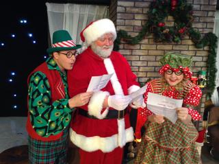 Tristan Tapscott, James Fairchild, and Audrey Leigh Johnston in Holly Jolly Christmas