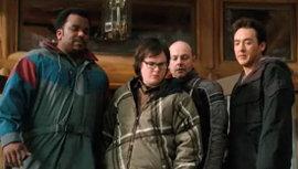 Craig Robinson, Clark Duke, Rob Corddry, and John Cusack in Hot Tub Time Machine