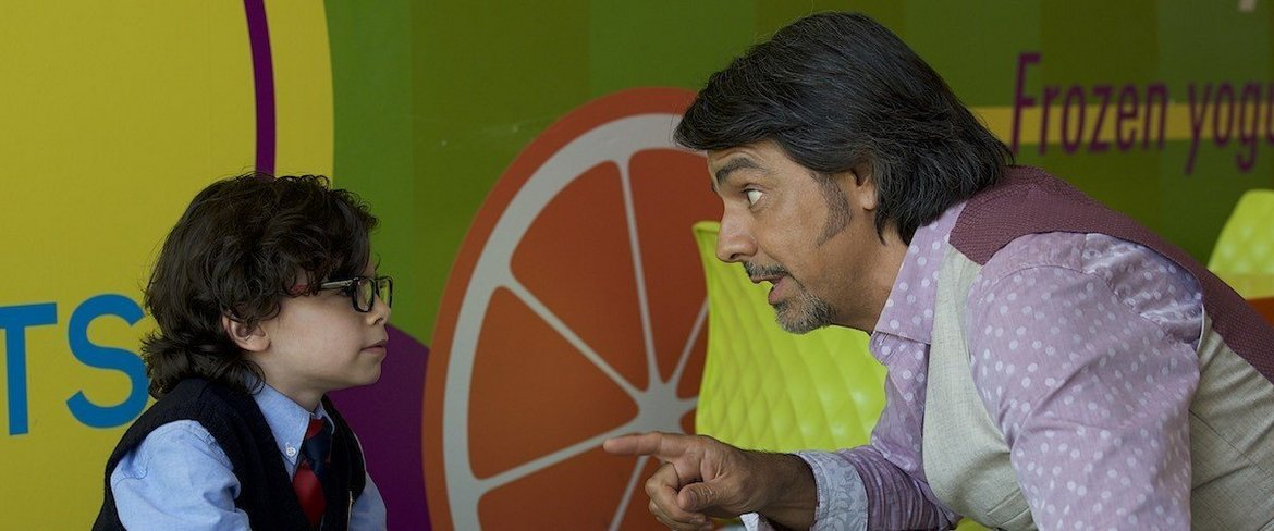 Raphael Alejandro and Eugenio Derbez in How to Be a Latin Lover