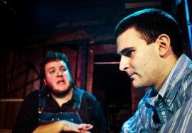 Matt Mercer and Steve Quartell in Of Mice and Men