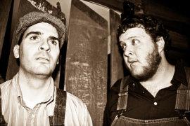 Steve Quartell and Matt Mercer in Of Mice and Men