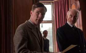 Benedict Cumberbatch, Mark Strong, and Charles Dance in The Imitation Game