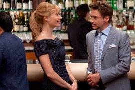 Gwyneth Paltrow and Robert Downey Jr. in Iron Man 2