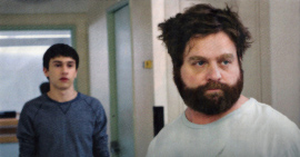 Keir Gilchrist and Zach Galifianakis in It's Kind of a Funny Story