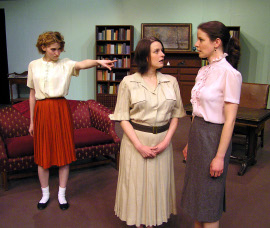 Anna Tunnicliff, Jamie Em Johnson, and Andrea Braddy in The Children's Hour