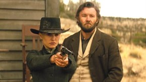 Natalie Portman and Joel Edgerton in Jane Got a Gun