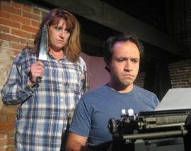 Angela Rathman and Jason Platt in Misery