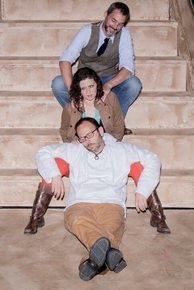 (top to bottom) Thomas Brooke, Kelly Rose Thompson, and Jason Gabriel in Jesus Christ Superstar