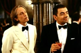 John Malkovich and Rowan Atkinson in Johnny English