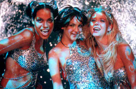 Rosario Dawson, Rachel Leigh Cook, and Tara Reid in Josie & the Pussycats