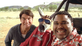 Jerry O'Connell, Kangaroo Jack, and Anthony Anderson in Kangaroo Jack