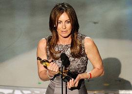 Best Director winner Kathryn Bigelow