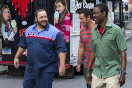 Kevin James, Adam Sandler, and Chris Rock in Grown Ups 2