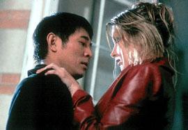 Jet Ji and Bridget Fonda in Kiss of the Dragon
