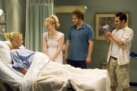 Katherine Heigl, Leslie Mann, Seth Rogen, and Paul Rudd in Knocked Up