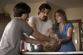 Gattlin Griffith, Josh Brolin, and Kate Winslet in Labor Day