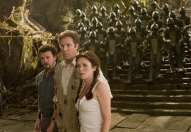 Danny McBride, Will Ferrell, and Anna Friel in Land of the Lost