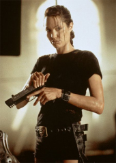 Angelina Jolie in Lara Croft, Tomb Raider